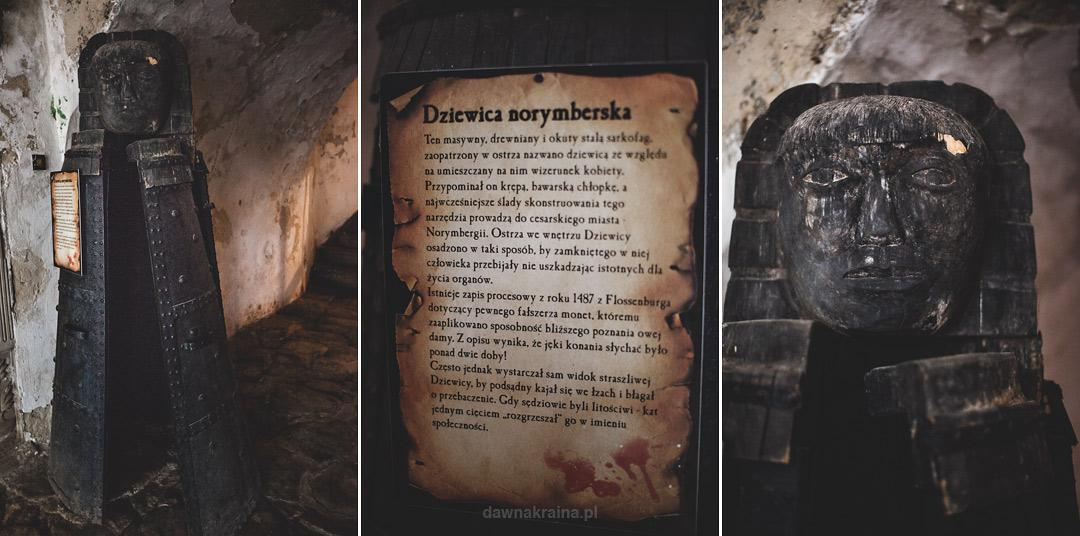 Dziewica norymberska na Zamku Grodno w sali tortur.