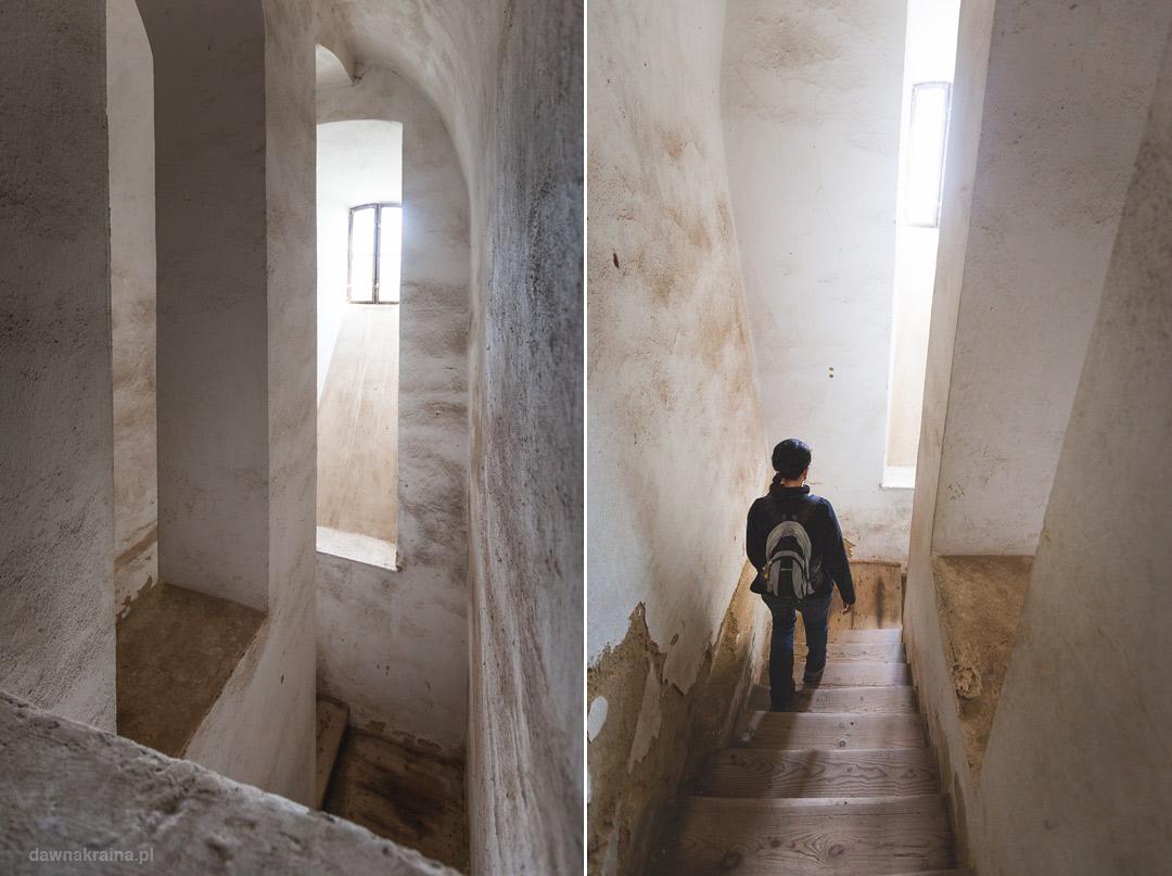 Schody na zamku Grodno.