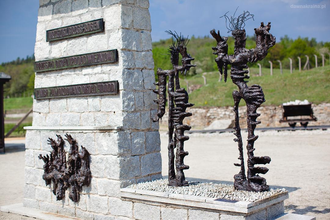 Pomnik na terenie Gross-Rosen