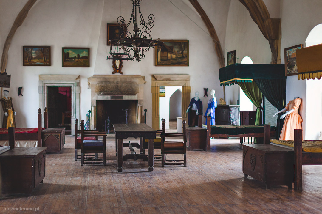 Komnaty wewnątrz zamku Grodziec
