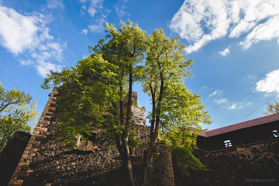 Donżon na zamku Grodziec