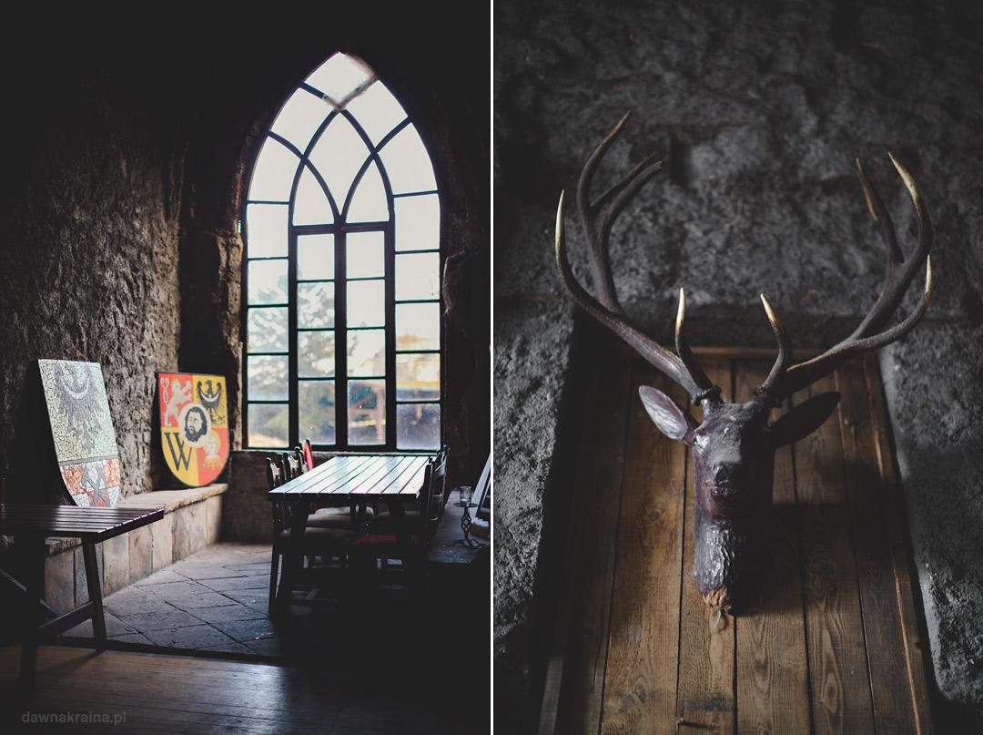 Wnętrza zamku Grodziec.