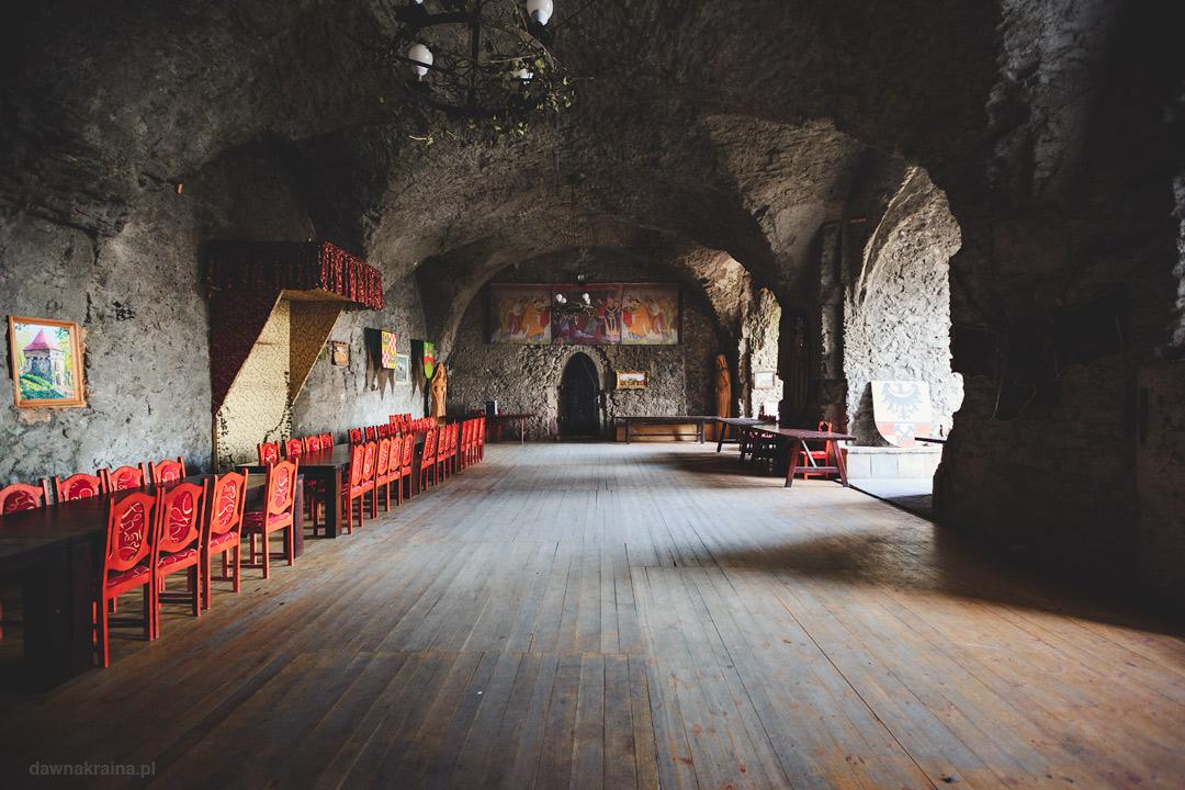 Komnata wewnątrz zamku Grodziec.