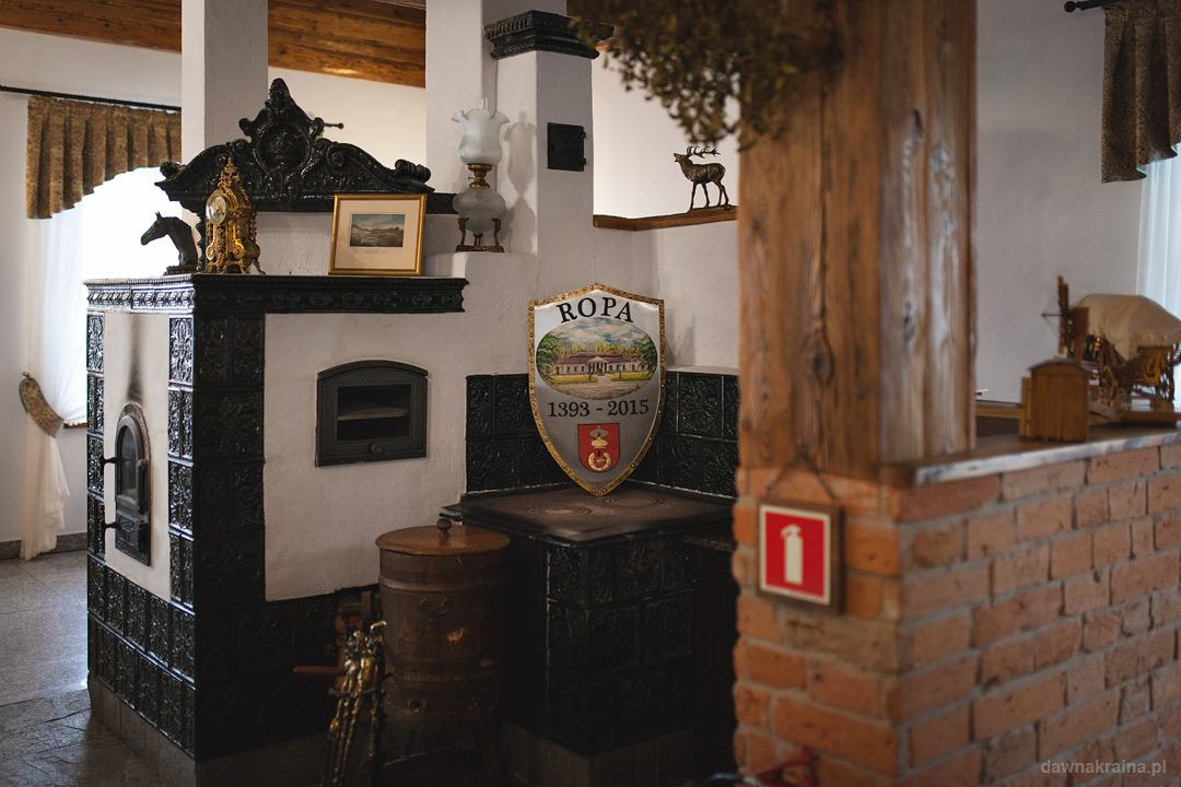 Piec w Gościńcu Dworskim w Ropie