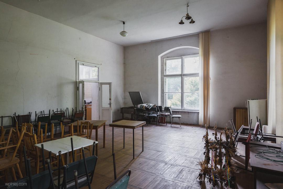 Wyposarzenie i wnętrza Pałacu Targoszyn
