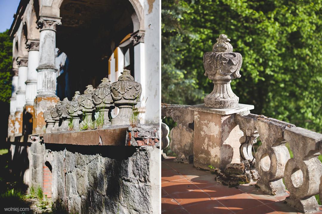 Dekoracje tarasów Pałacu Targoszyn