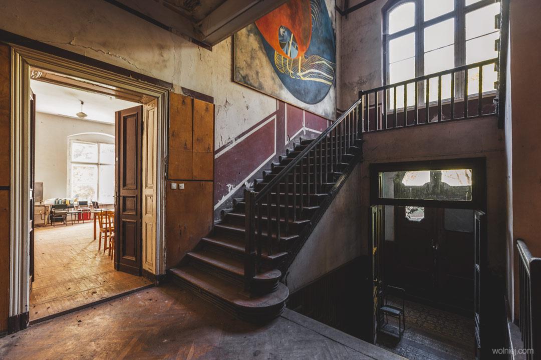 Wnętrze parteru w Pałacu Targoszyn