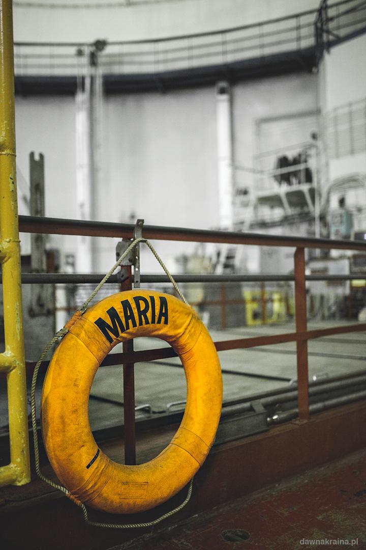 koło ratunkowe przy reaktorze Maria