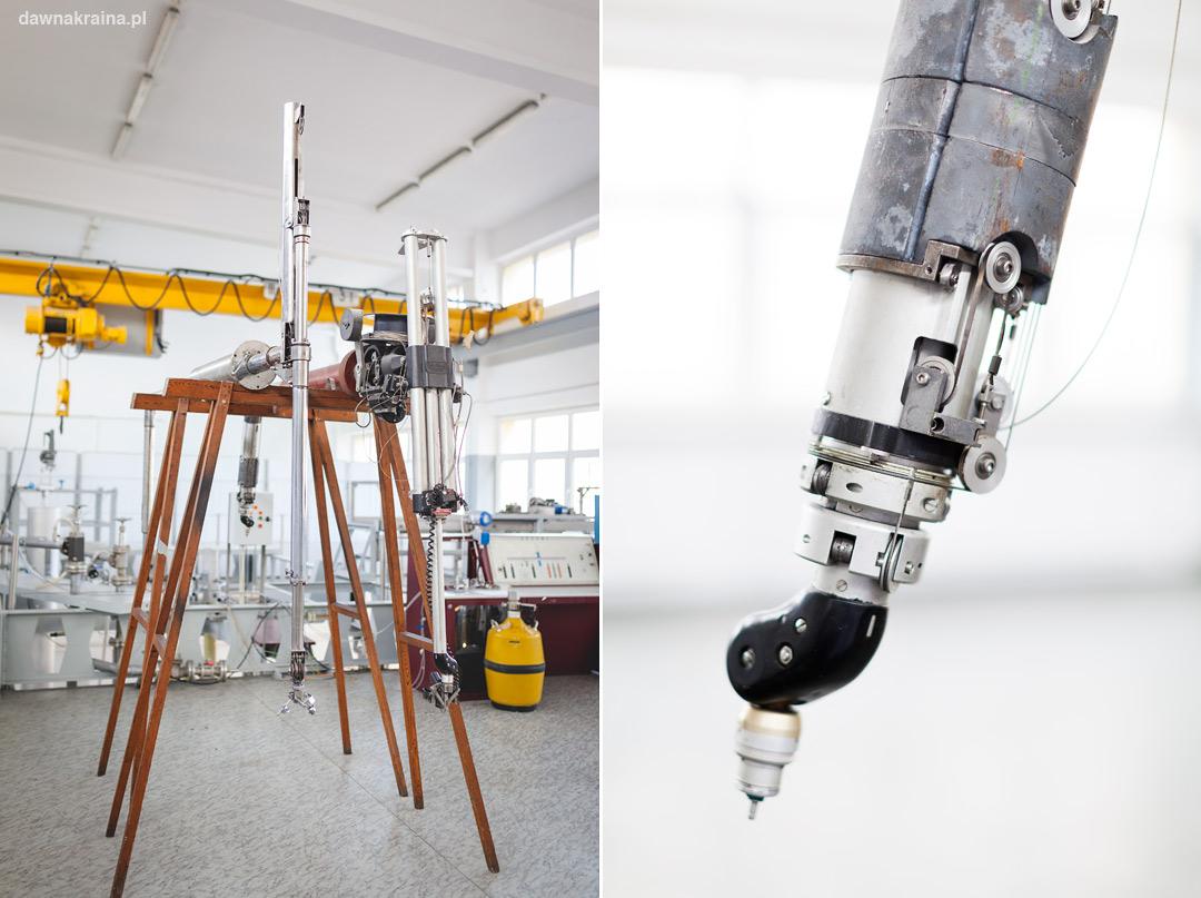 manipulatory do pracy z materiałami promieniotwórczymi w reaktorze Maria