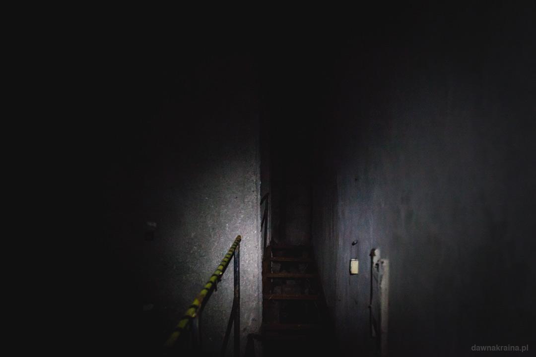 Wnętrze bunkrów w Miłkowej