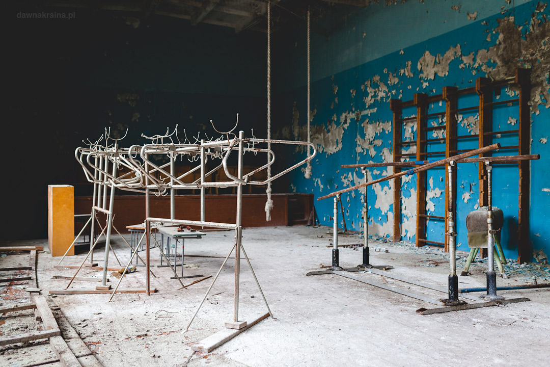Sala gimnastyczna w szkole w Czarnobyl 2