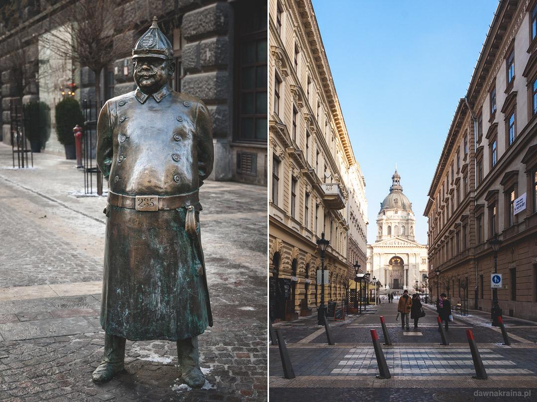 ulica przed Bazykilą św. Stefana w Budapeszcie