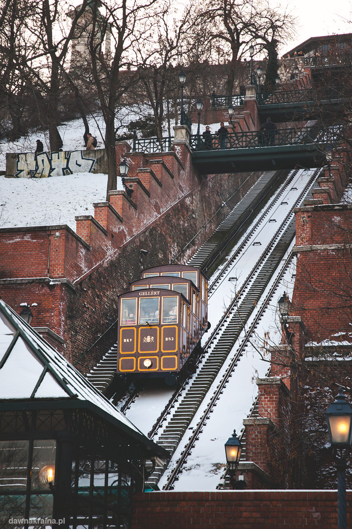 kolejka na górę zamkową w Budapeszcie