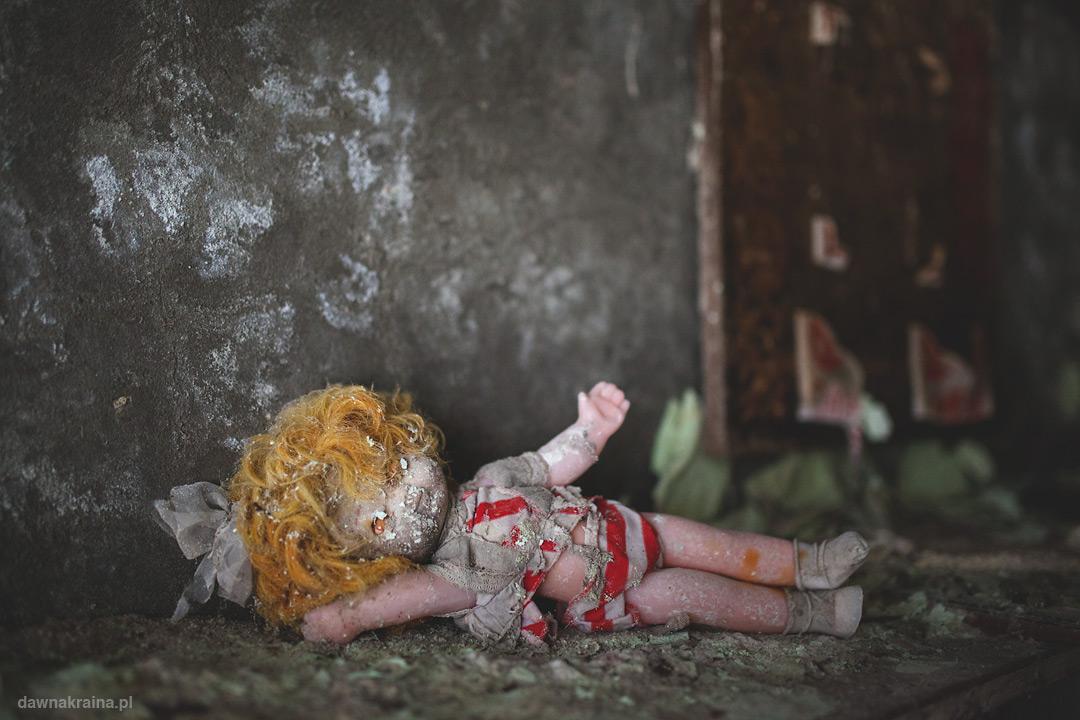 Lalki i zabawki w przedszkolu Czeburaszka w Prypeci.