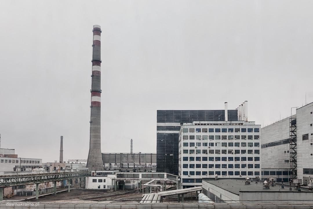 Widok z okna Złotego Korytarza w Czarnobylskiej Elektrowni.