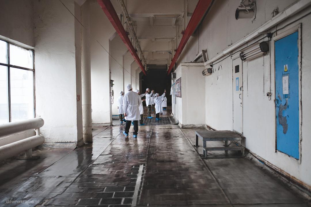 korytarz w elektrowni Czarnobylskiej