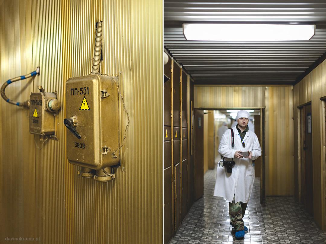 Złoty Korytarz w Elektrowni w Czarnobylu