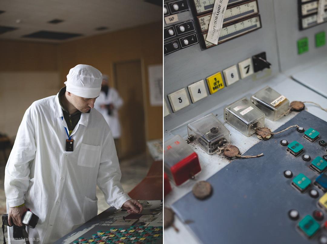 panel sterujący w elektwowni Czarnobylskiej