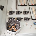 popielniczka w sterowni bloku trzeciego w elektrowni Czarnobylskiej