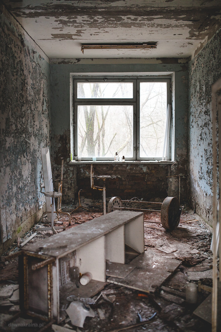 pomieszczenia szpitala w Prypeci