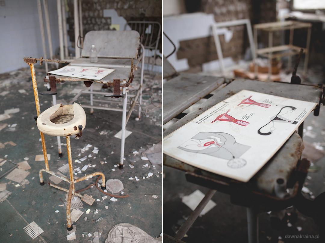 sale operacyjne w szpitalu w Prypeci