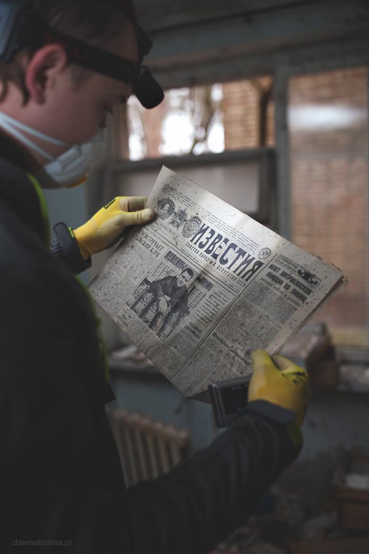 gazety w szpitalu w Prypeci