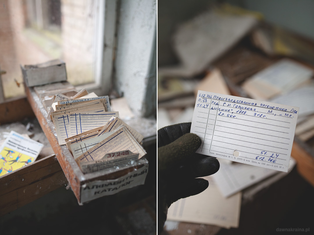 Dokumenty w szpitalu w Prypeci