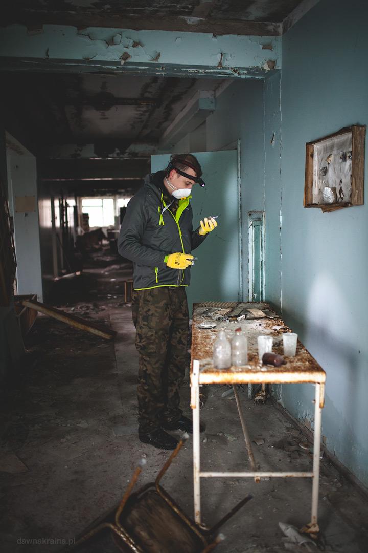 korytarz w szpitalu w Prypeci