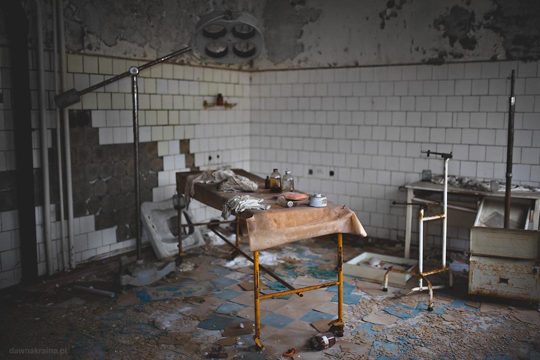 Sale zabiegowe w szpitalu w Prypeci