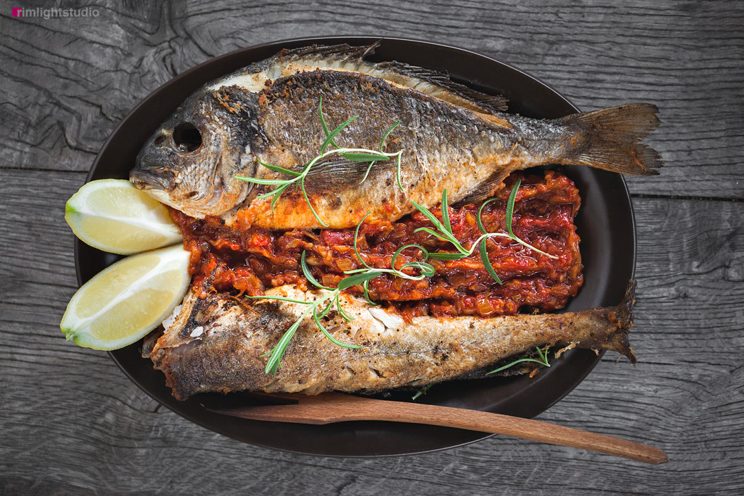 Ryby w restauracji. Villa Greta, pensjonat i restauracja slowfood