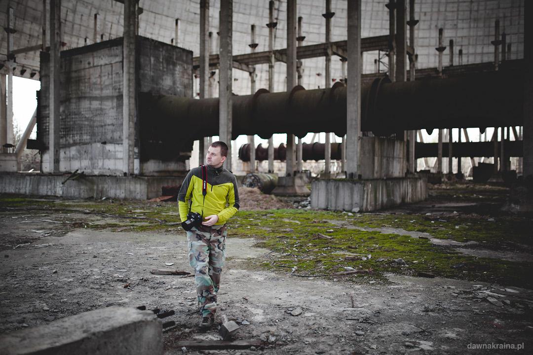 Wnętrze wieży chłodniczej w Czarnobylu.