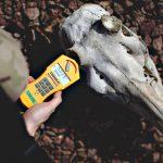 Napromieniowana czaszka zwierzęcia przy torach wykazuje nieznacznie podniesiony poziom promieniowania. Eksploracja Strfy Wykluczenia