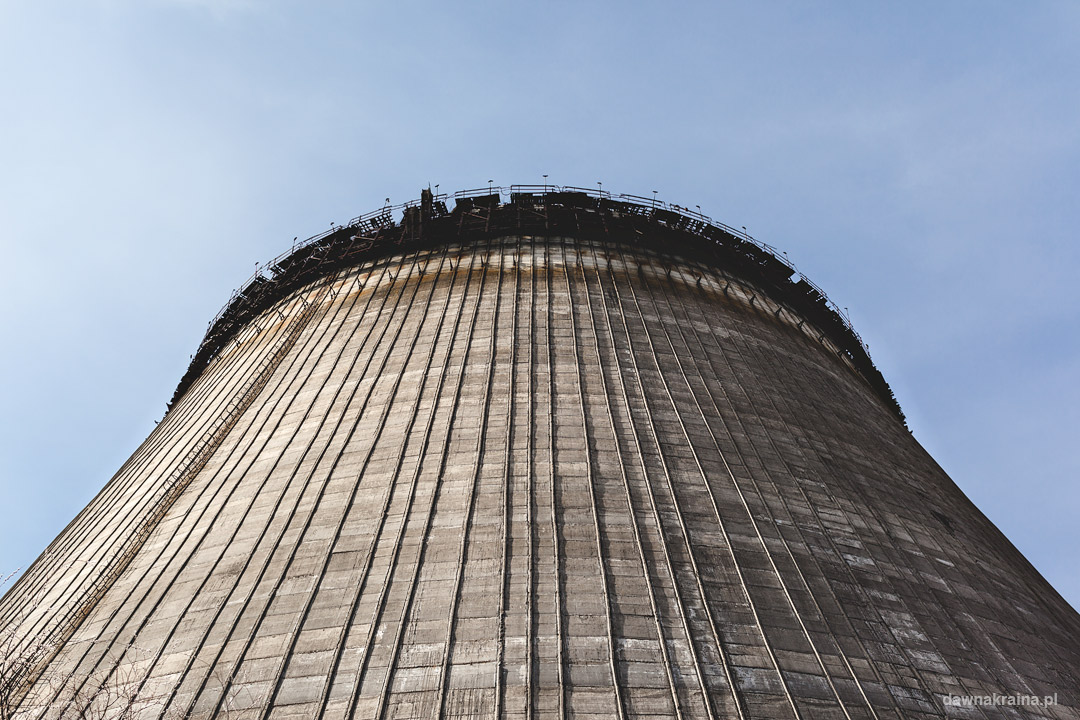 Wieże chłodnicze w okolicy Elektrowni Atomowej w Czarnobylu