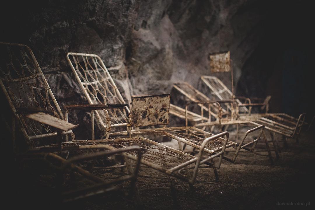 Inhalatorium radowe w kopalni uranu w Kowarach.