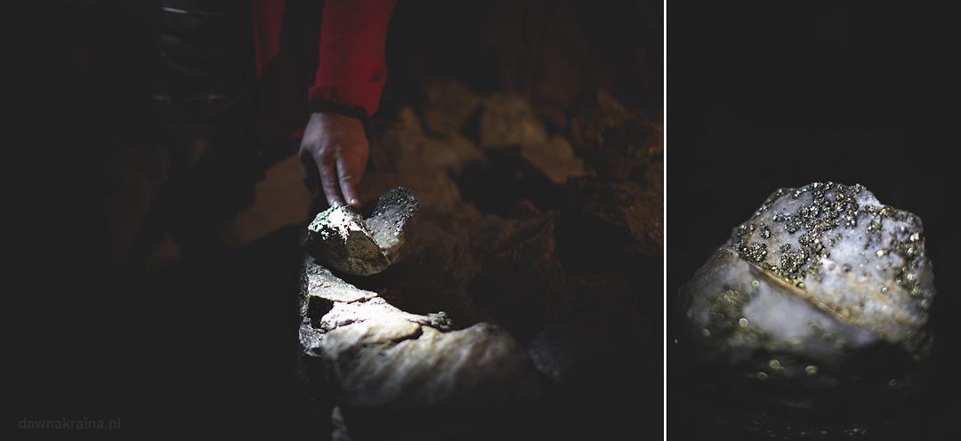 Minerały, które można zobaczyć w kopalni. Kopalnia uranu w Kowarach.