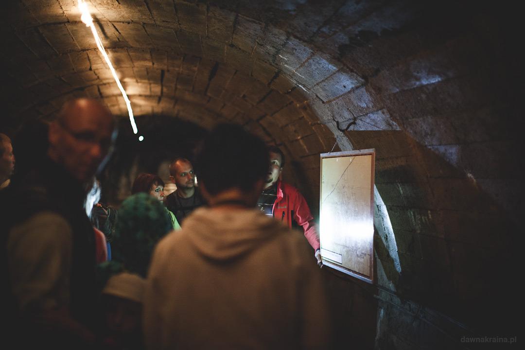 Jeden z korytarzy w Kopalnii uranu w Kowarach.