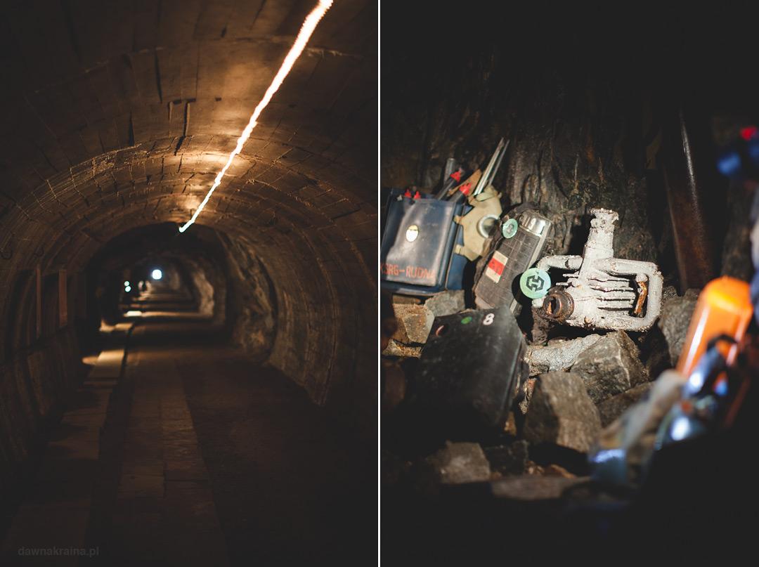 Korytarze w Kopalni uranu w Kowarach.