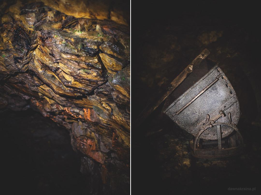 Wnętrza tuneli w kompleksie Rzeczka. Wizyta w kompleksie Rzeczka w Walimiu.