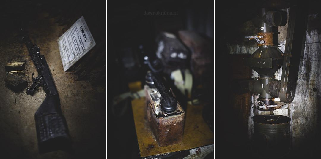 Wystawa elementów wyposażenia w Kompleksie Rzeczka. Wizyta w kompleksie Rzeczka w Walimiu.