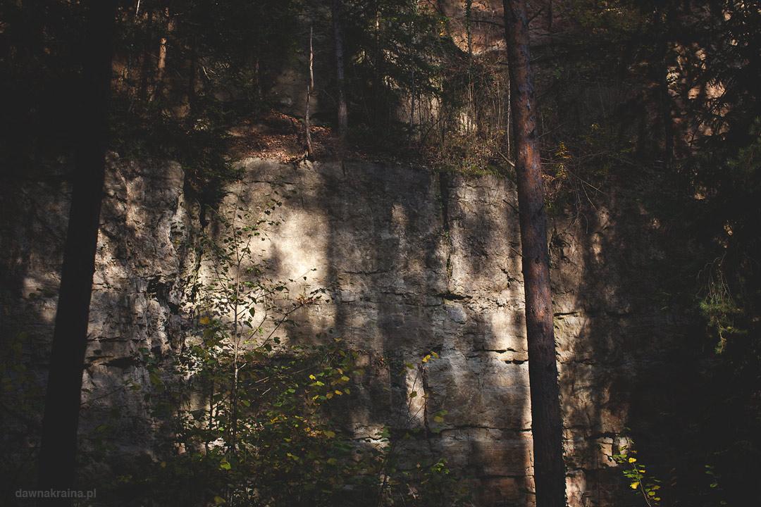 Były kamieniołom wapienia na Ścież e przyrodniczo dydaktycznej w Leszczynie. Skanen górniczo-hutniczy w Lesczynie
