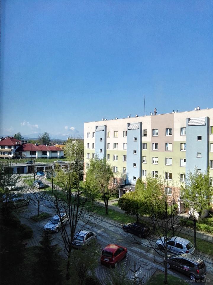 Nowy Sącz. Widok z okna.