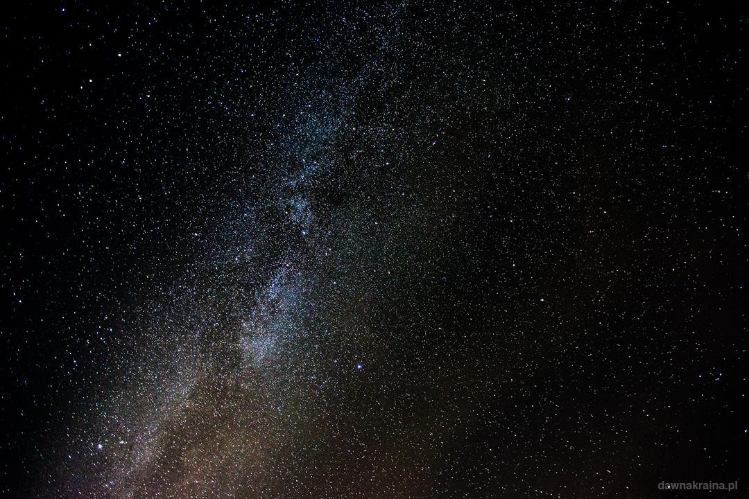Noc spadających gwaizd. Widok na Dorgę Mleczną