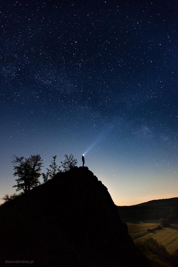Noc spadających gwiazd. Obserwacja nieba.