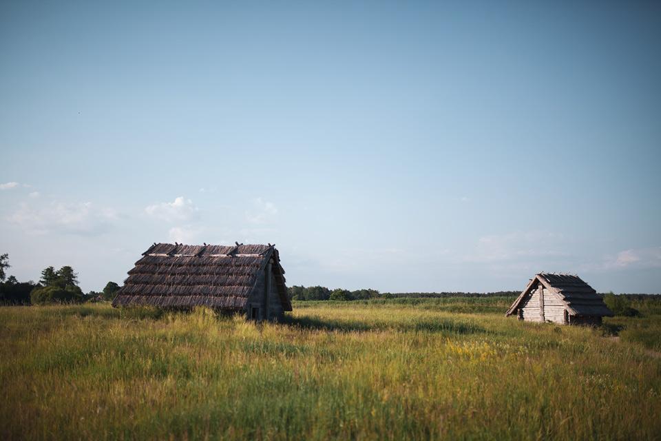 Grodzisko Żmijowiska - chaty