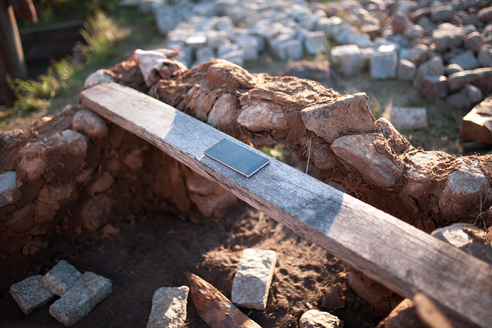 Budowa pieca szklarskiego Grodzisko Żmijowiska