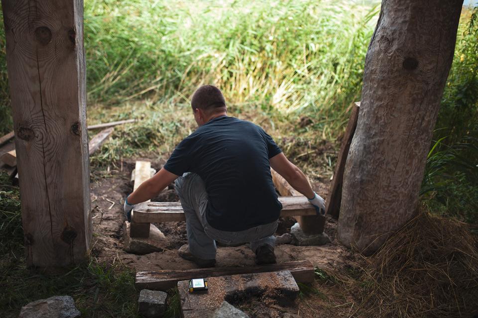 Budowa pieca chlebowego i szklarskiego w Grodzisku Żmijowiska