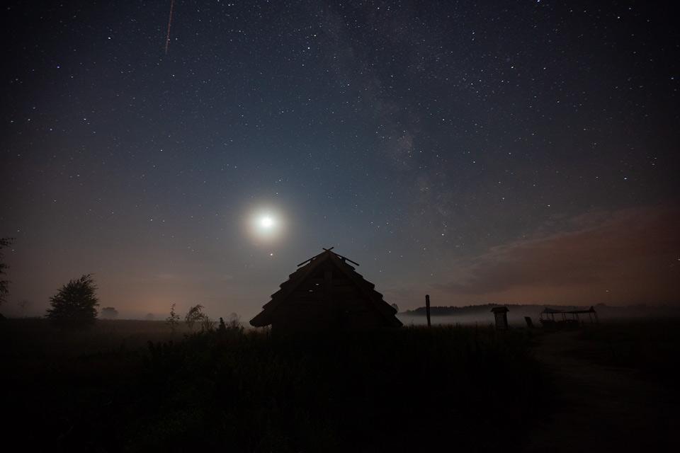 Żmijowiska, grodzisko - zaćmienie księżyca