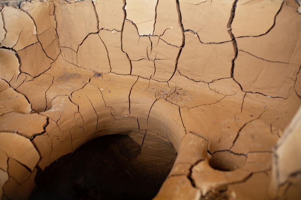 Żmijowiska, budowa pieca szklarskiego