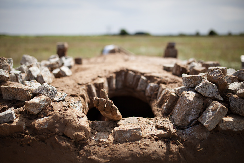 Budowa pieca szklarskiego, Grodzisko Żmijowiska