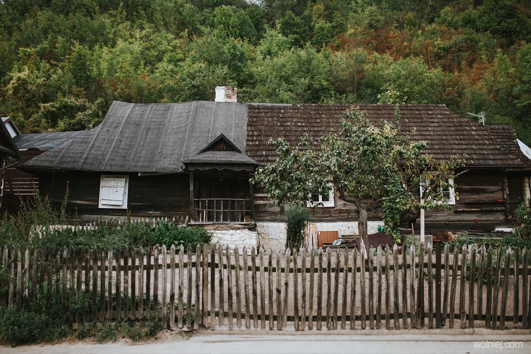 drewniane domy w Kazimierzu Dolnym